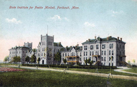 State Institute of the Feeble Minded, Faribault Minnesota, 1910's