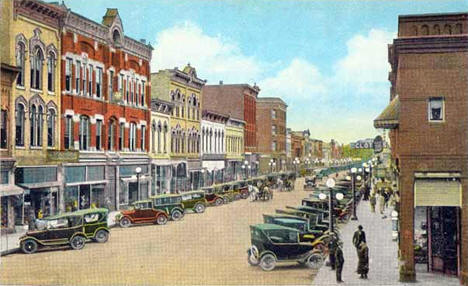 Central Avenue, Faribault Minnesota, 1920