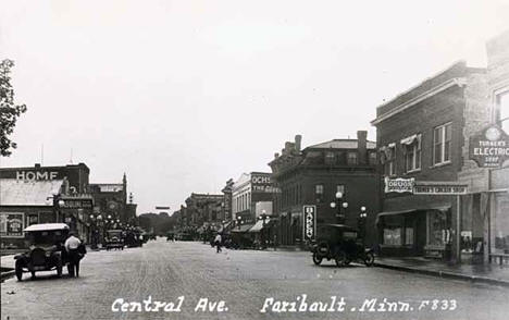 Central Avenue, Faribault Minnesota, 1925