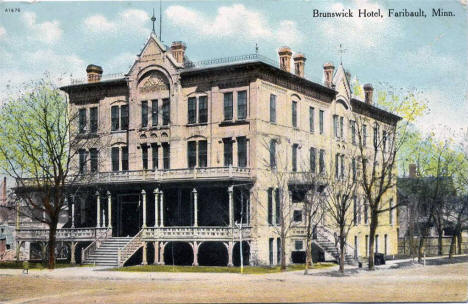 The Brunswick Hotel, Faribault Minnesota, 1911