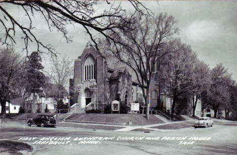 First English Lutheran Church and Parish House, Faribault Minnesota, 1950's