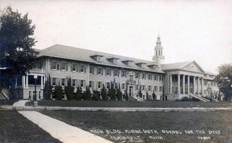 Main Building, Minnesota School for the Deaf, Faribault Minnesota, 1919