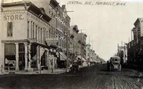 Central Avenue, Faribault Minnesota, 1910