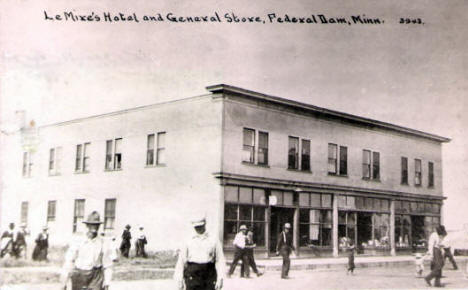Lemire's Hotel General Store, Federal Dam Minnesota, 1910