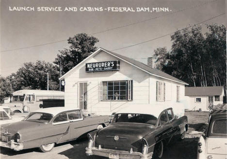 Neururer's Launch Service and Cabins, Federal Dam Minnesota, 1950's