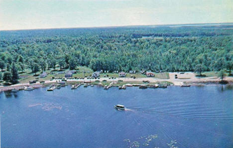 Aerial view, Leech Lake and Federal Dam Minnesota, 1950's