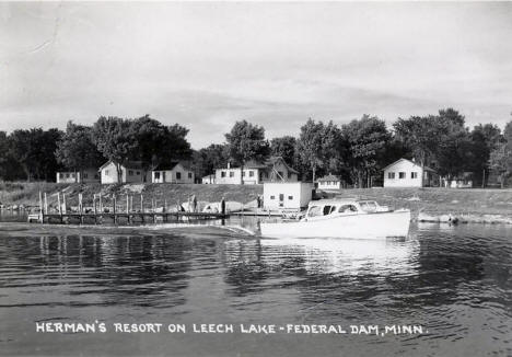 Herman's Resort on Leech Lake, Federal Dam Minnesota, 1950
