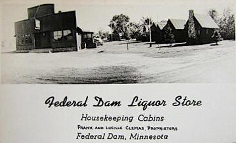 Federal Dam Liquor Store, Federal Dam Minnesota, 1947