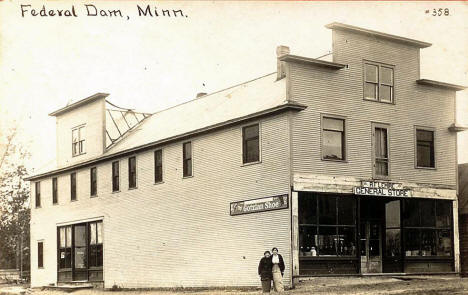 Lemire General Store, Federal Dam Minnesota, 1913