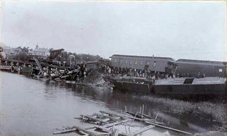 Train wreck on the Great Northern Railway at Fergus Falls Minnesota, 1895