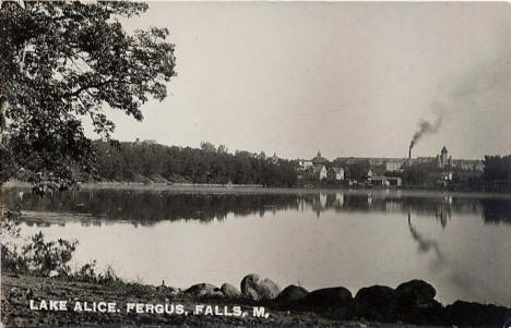Lake Alice, Fergus Falls Minnesota, 1909