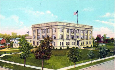 Ottertail County Courthouse, Fergus Falls Minnesota, 1920's