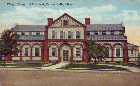 Wright Memorial Hospital, Fergus Falls Minnesota, 1920's?