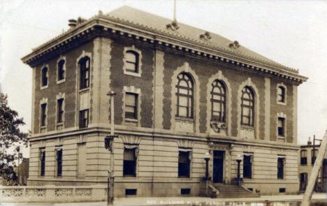 Government Building and Post Office, Fergus Falls Minnesota, 1912