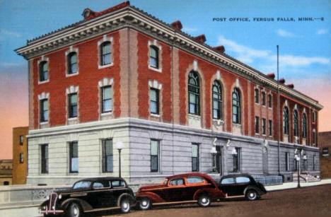 Post Office, Fergus Falls Minnesota, 1930's