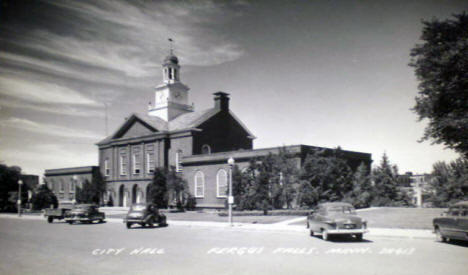 City Hall, Fergus Falls Minnesota, 1950's