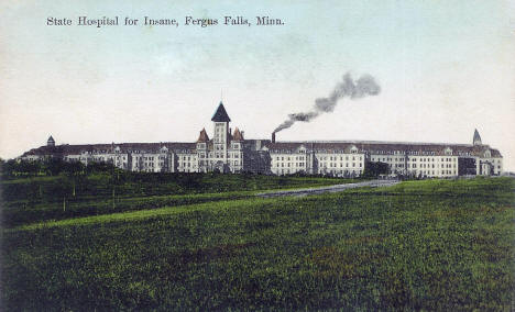 State Hospital for the Insane, Fergus Falls Minnesota, 1911
