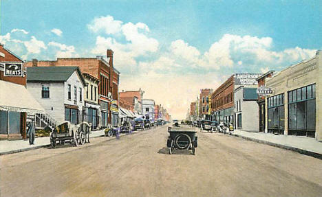 Lincoln Avenue West, Fergus Falls Minnesota, 1910's