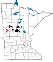 Location of Fergus Falls Minnesota