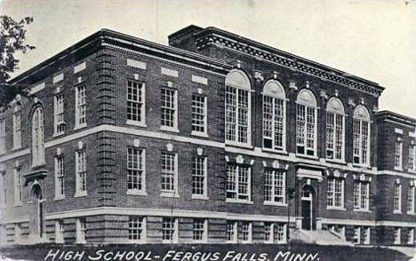 High School, Fergus Falls Minnesota, 1930's?
