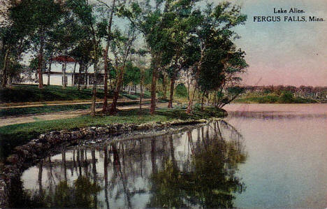 Lake Alice, Fergus Falls Minnesota, 1920's?