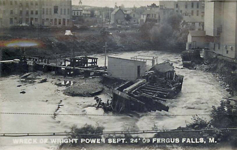 Wreck of Wright Power, Fergus Falls Minnesota, 1909