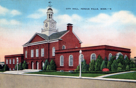 City Hall, Fergus Falls Minnesota, 1944