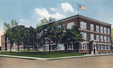 High School, Fergus Falls Minnesota, 1930's