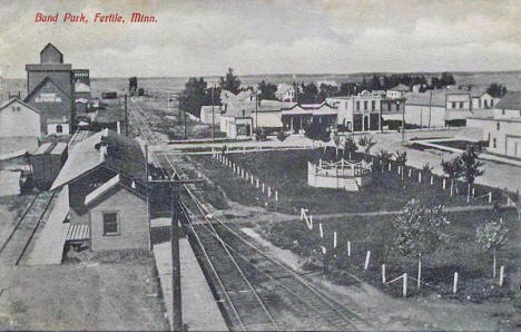 Band Park, Fertile Minnesota, 1910