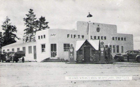 Fifty Lakes Store, Fifty Lakes Minnesota, 1947