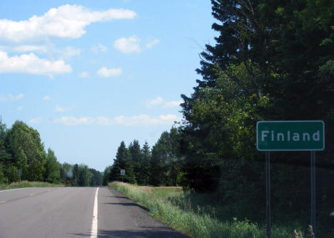 Entering Finland Minnesota from the north on Highway 1, 2007