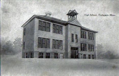 High School, Finlayson Minnesota, 1922