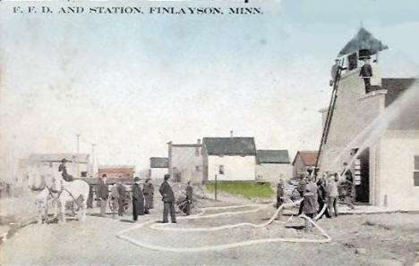 Fire Department, Finlayson Minnesota, 1911