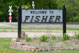 Fisher Minnesota Welcome Sign