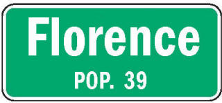 Florence Minnesota population sign