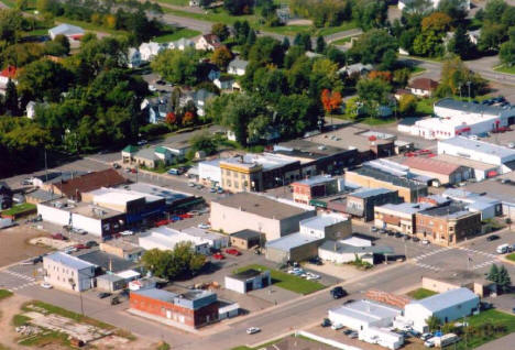 Aerial view of Downtown Foley Minnesota, 2007