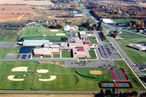 Aerial view of Foley Minnesota Schools, 2007