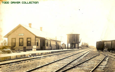Railroad Depot, Foley Minnesota, 1919
