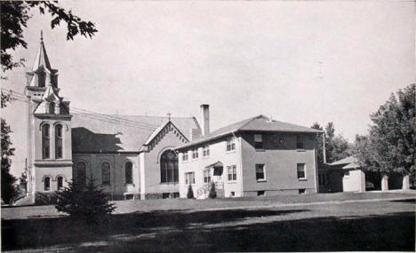St. John's Church and new Parish House, Foley Minnesota, 1954
