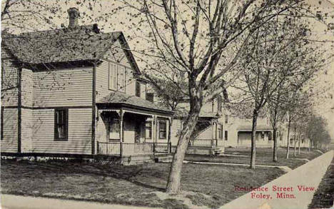 Residence Street View, Foley Minnesota, 1910's