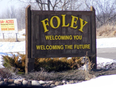 Welcome Sign, Foley Minnesota, 2009