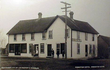 Foreston Hotel, Foreston Minnesota, 1912