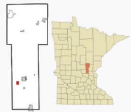 Location of Foreston, Minnesota