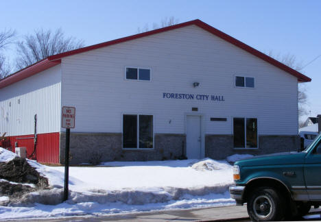 Foreston City Hall, Foreston Minnesota, 2009