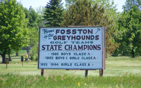 Fosston Greyhounds Golf Team sign, Fosston Minnesota, 2009