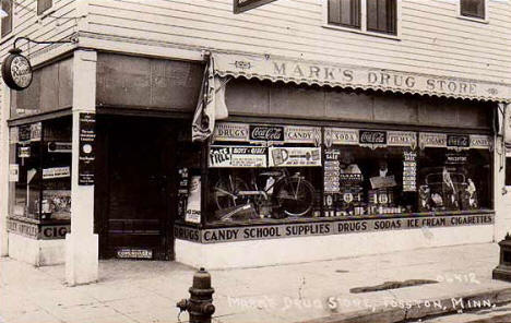 Mark's Drug Store, Fosston Minnesota, 1938