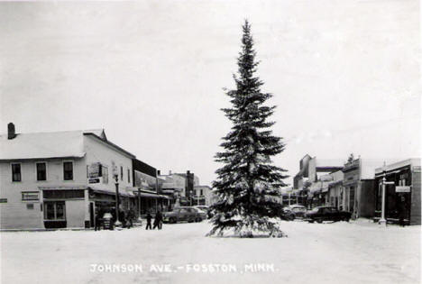 Johnson Avenue, Fosston Minnesota, 1954