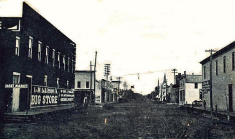 Harrison Avenue looking north, Fosston Minnesota, 1908