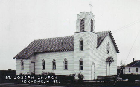 St. Joseph Church, Foxhome Minnesota, 1930's?