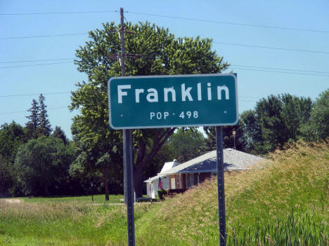 Population sign, Franklin Minnesota, 2011